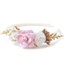opaska do włosów wianek róż krem magnolia