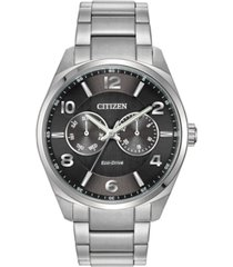 citizen eco-drive men's corso stainless steel bracelet watch 42mm
