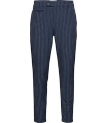 como light pinstripe suit pants kostuumbroek formele broek blauw les deux