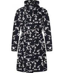 happyrainydays regenjas coat brisa blossom black off white-xxxl