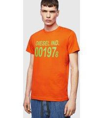 polera t diego 001978 t shirt 38l naranjo diesel