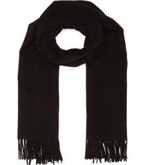fringe hem oversized wool scarf