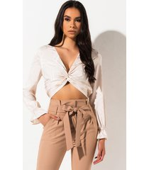 akira all the time in the world knot front blouse