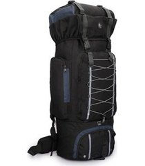 mochila dagg camping adventure 80 litros preto com azul