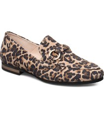 slip on loafers låga skor beige gabor