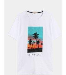 camiseta pesada paisaje tropical