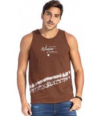 camiseta vlcs regata gola redonda marrom - marrom - masculino - algodã£o - dafiti