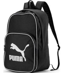 mochila negra puma retro woven