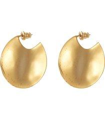 'wavee' small coin drop earrings