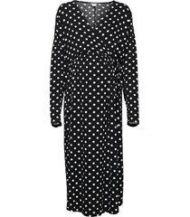 dress mom kajsa fake wrap dresses everyday dresses svart lindex