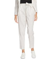 1.state striped cotton tie-waist pants