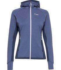 cecilie wool hood jkt hoodie trui blauw bergans