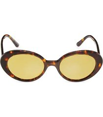 oliver peoples x the row 50mm parquet oval sunglasses