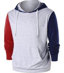 three tones kangaroo pocket hoodie