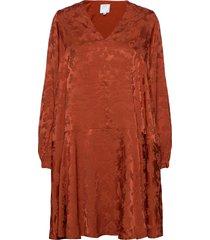 ruska bell dress knälång klänning orange hálo