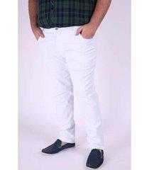 calça sarja kauê plus size masculina - masculino