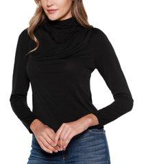 belldini black label long sleeve mock neck top