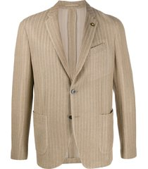lardini fine knit blazer - neutrals