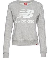 essentials crew sweat-shirt tröja grå new balance