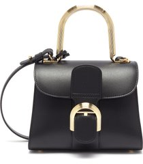 'brilliant mini' metal handle satchel