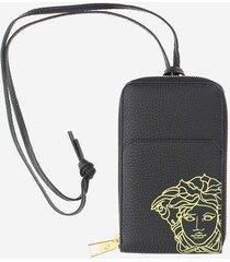 versace designer men's bags, black and grey wallet