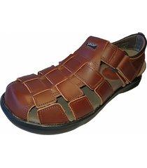 sandalia de cuero marrón zurich