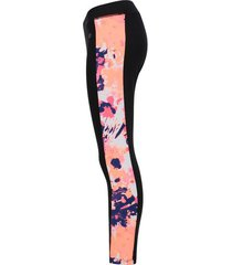 legging deportivo con franja rosa color rosado, talla xs