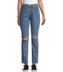 weworewhat women's danielle high-rise straight-fit jeans - spring straight - size 25 (2)