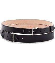 alexander mcqueen double buckle belt - black