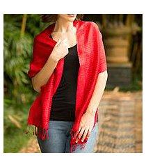 silk scarf, 'cherry supreme' (thailand)