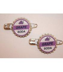 "2 replica ellie badge grape soda bottle cap pins! ""up"" sticker gift bag included"