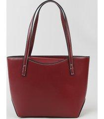 bolsa de ombro feminina shopper grande com alça removível vinho