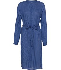 basic shirt dress jurk knielengte blauw lollys laundry