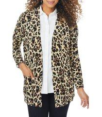 foxcroft reversible animal cardigan, size medium in multi at nordstrom