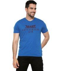 camiseta azul-rojo levis