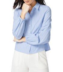 women's court & rowe stripe textured shirt