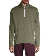 bonobos golf men's fleece half-zip jacket - olive - size m
