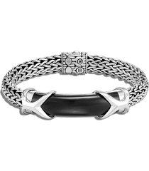 'asli classic chain' black onyx sterling silver bracelet