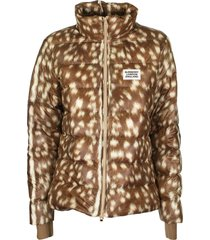 burberry colinton - deer print puffer jacket