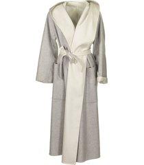 agnona cashmere reversible coat
