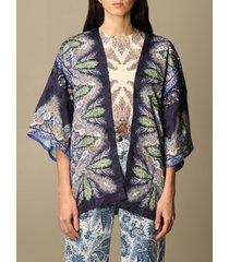 etro cardigan etro scarf cardigan in paisley patterned silk