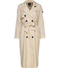 slfbren ls trench coat b trenchcoat lange jas beige selected femme