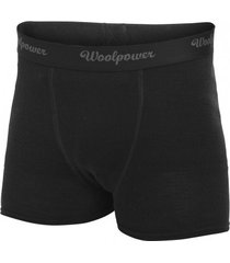 woolpower ondergoed men boxer briefs lite black-m