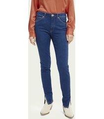 scotch & soda haut high-rise skinny jeans - fresh sight
