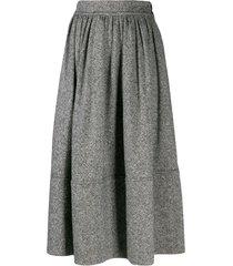 holland & holland mid-length pleated skirt - grey