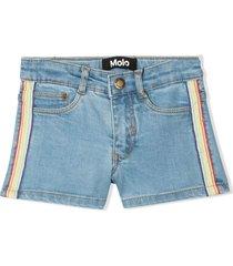 molo blue cotton blend shorts