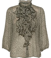 lillysz 3,4 shirt blus långärmad grå saint tropez