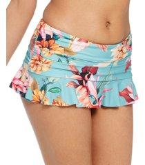 la blanca garden social printed ruffle swim skirt women's swimsuit