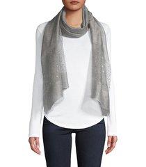 saachi women's silk & wool-blend scarf - grey