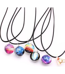 moda galaxy planet star glass wishing ball pendente collana per le donne regalo di natale
